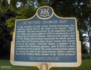 Information on the church. Photo courtesy of Catherine Reiss