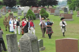 Colour Party marching in. Photo courtesy of Brenda Corby