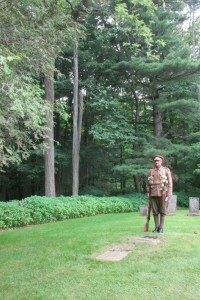 Sentry at Gilman Willson grave Photo courtesy of Brenda Corby.
