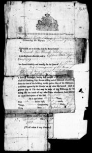 Original documents for Edward Lee of the 41st Regiment of Foot, 1802.