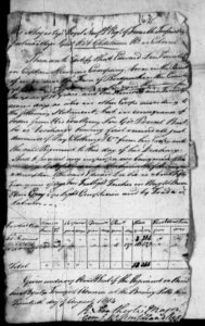 Original documents for Edward Lee of the Royal Newfoundland Regiment Fencibles, 1814.