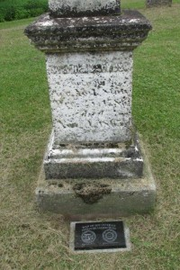 Stephen Backus grave. Photo courtesy of Brenda Corby