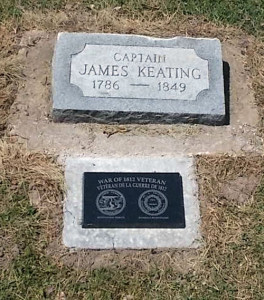 James Keating Footstone at St. James On-the-Lines, Penetanguishene, ON