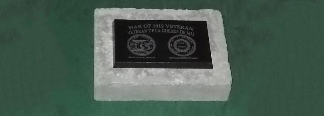 1812 Veteran Graveside Marker