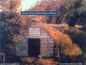 Johnson Family Vault at Mount Johnson, 1885
