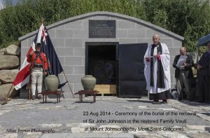 Ceremony at Restored Johnson Family Vault at Mount Johnson (now Mont Saint-Grégoire), 2014