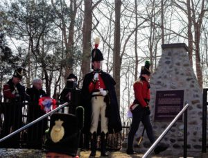 Re-enactors at the plaque ceremony