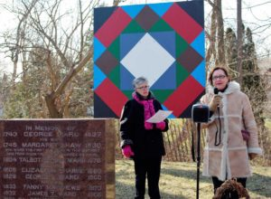 Speaking at plaque ceremony