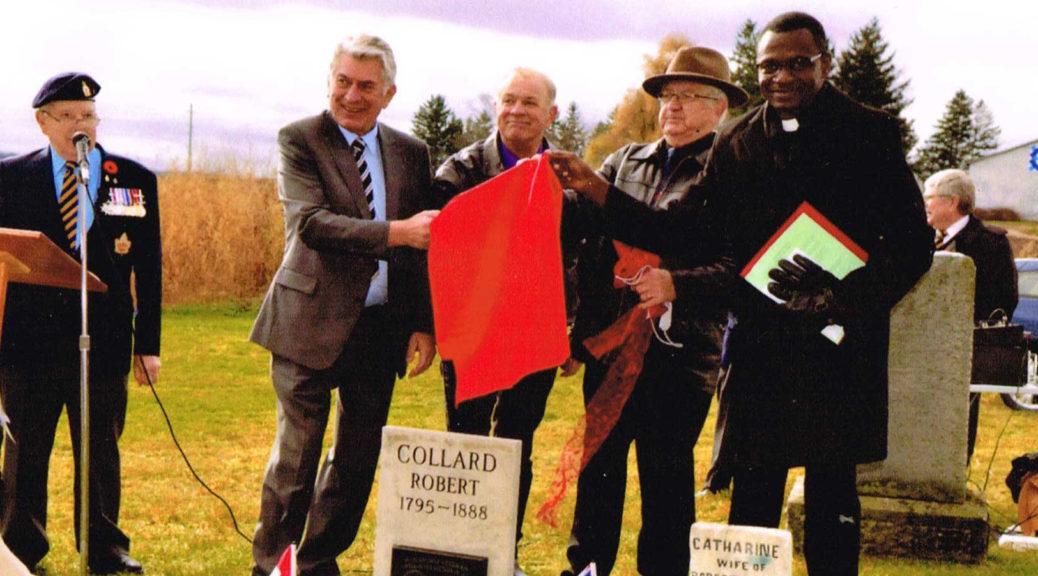 Robert Collard, Plaque Ceremony