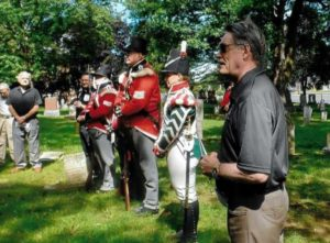 MPP Paul Miller,  re-enactors of 2nd Lincoln Militia and Rev'd Bahman Kalantari