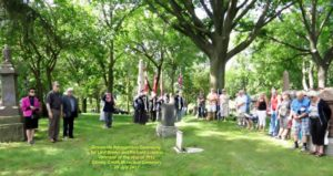 War of 1812 Graveside Recognition Ceremony for Private Richard London