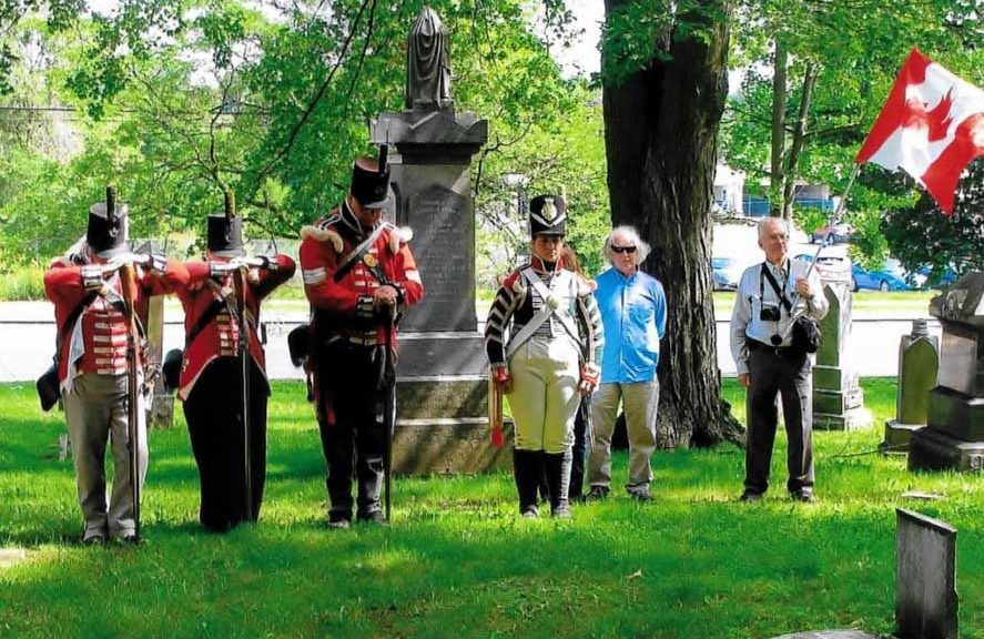Re-enactors of 2nd Lincoln Militia honour Private Richard London
