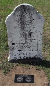 Benjamin Preston's marker at Stockdale Cem., Quinte West. photo by P Johnson
