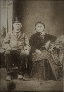 1812 veteran Benjamin Preston and wife Diadamia Potter c1870.