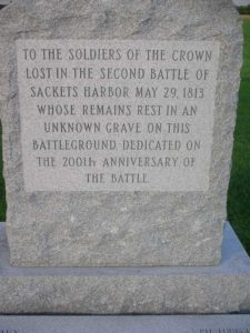 Marker for the 2nd Battle of Sackets Harbor